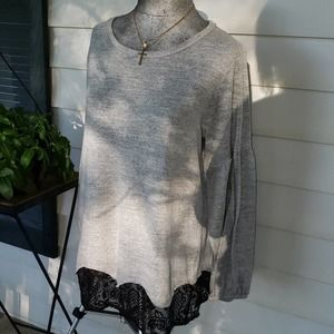 Maurices women's gray Large top tunic sweater NWT
